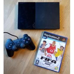 Playstation 2 Slim: Komplett konsoll med FIFA Football 2004