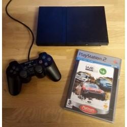 Playstation 2 Slim: Komplett konsoll med WRC 4