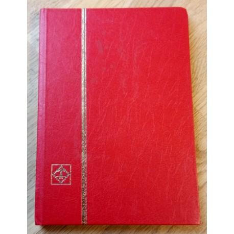Frimerker: Rødt innstikksalbum med frimerker