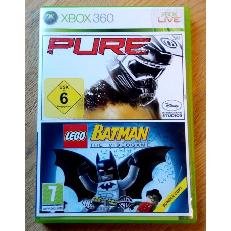 Xbox 360: Lego Batman The Videogame og Pure