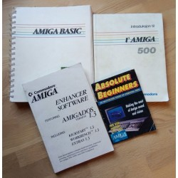 4 x Amiga-bøker selges samlet - Amiga Basic, Enhancer, Introduksjon til Amiga 500, Absolute Beginners