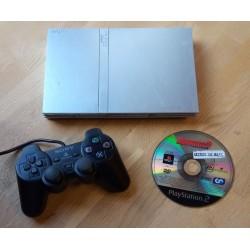 Playstation 2 Slim: Komplett konsoll med Burnout 3 Takedown