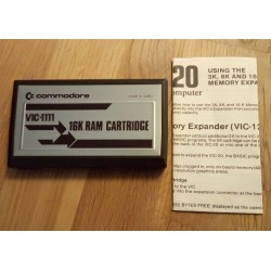 VIC-20 - 16K RAM Cartridge - I eske med manual