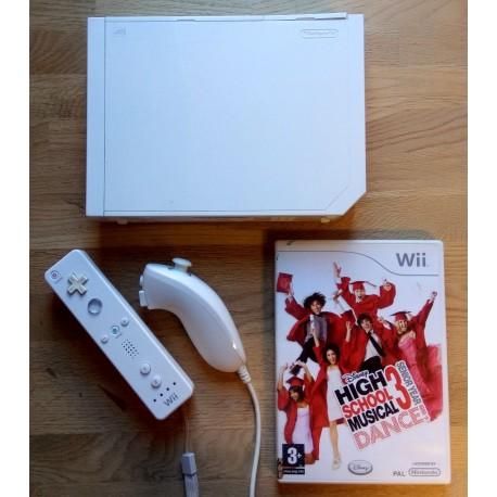 Nintendo Wii: Komplett konsoll med High School Musical 3