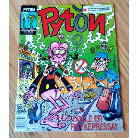 Pyton: 1992 - Nr. 5 - Dølle er røykepressa!