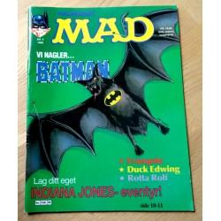Norsk MAD: 1989 - Nr. 9 - Vi nagler... Batman