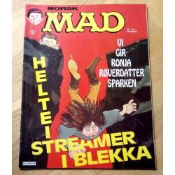 Norsk MAD: 1986 - Nr. 4 - Vi gir Ronja Røverdatter sparken - Merke med i bladet!