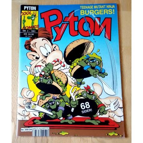 Pyton: 1991 - Nr. 4 - Teenage Mutant Ninja Burgers!