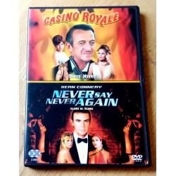 2 x James Bond: Casino Royale og Never Say Never Again (DVD)