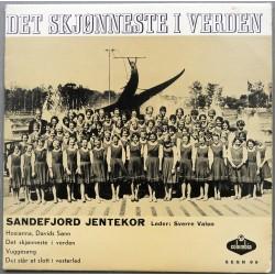 Sandefjord Jentekor- Det skjønneste i verden (Vinyl)