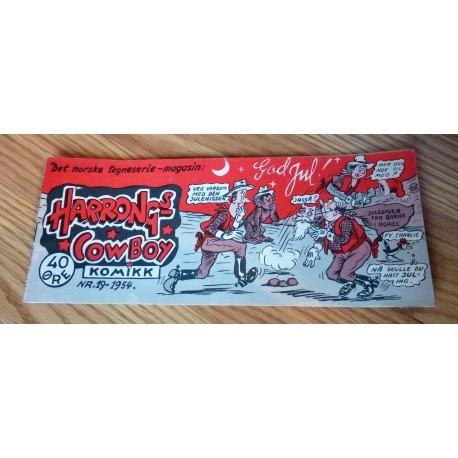 Harrongs Cowboy Komikk - 1954 - Nr. 19