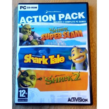 Action Pack - Shrek Super Slam, Shark Tale og Shrek 2 (Activision) - PC