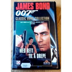 James Bond 007 - Med rett til å drepe - VHS