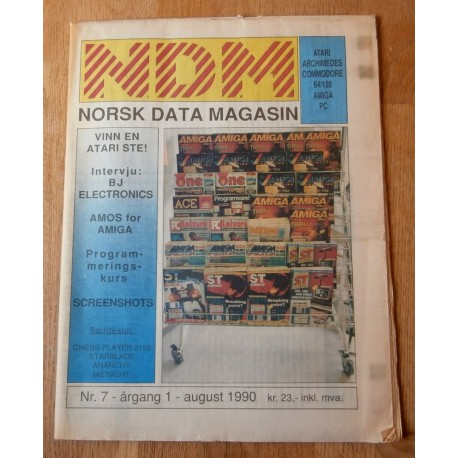 NDM - Norsk Data Magasin: 1990 - Nr. 7