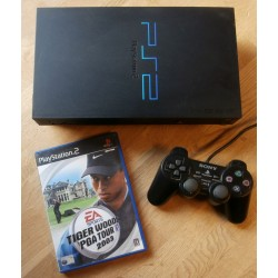 Playstation 2: Komplett konsoll med Tiger Woods PGA Tour 2003