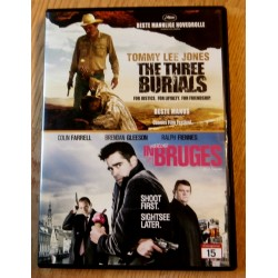 2 x DVD - The Three Burials og Undercover in Bruges