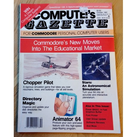 Compute!'s Gazette for Commodore Personal Computer Users - 1987 - October