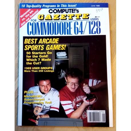 Compute!'s Gazette for Commodore Personal Computer Users - 1989 - June