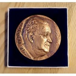 Medalje: Alf Prøysen i bronse