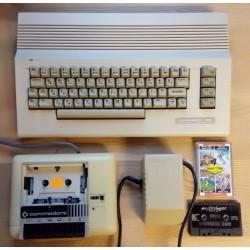 Commodore 64 datamaskin med spill