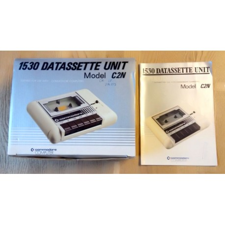 Commodore 1530 Datassette Unit - Model C2N - Eske og manual