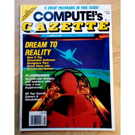 Compute!'s Gazette for Commodore Personal Computer Users - 1989 - March