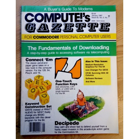 Compute!'s Gazette for Commodore Personal Computer Users - 1987 - January - Nr. 1