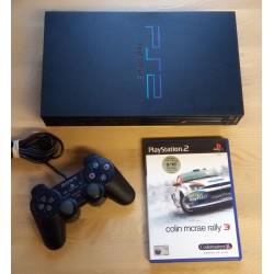 Playstation 2: Komplett konsoll med Colin McRae Rally 3