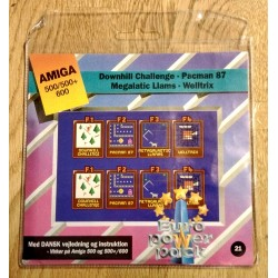 Euro Power Pack - Vol. 21 - Downhill Challenge - Pacman 87 - Megalatic Llams - Welltrix - Amiga