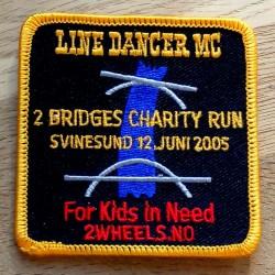 Tøymerke: Line Dancer MC - 2 Bridges Charity Run Svinesund 12. juni 2005