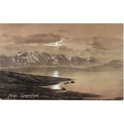 Postkort - Lyngenfjord - Midnattsol