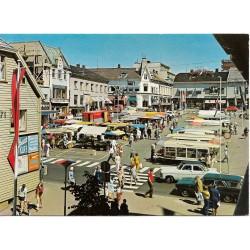 Postkort - Tønsberg - Utsikt over torget