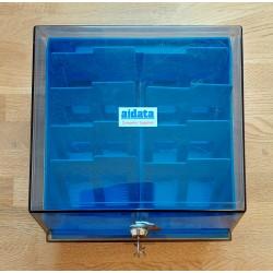 Diskettboks til 3.5 disketter - Blå - Aidata