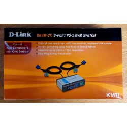 D-Link - DKVM-2K - 2-Port PS/2 KVM Switch