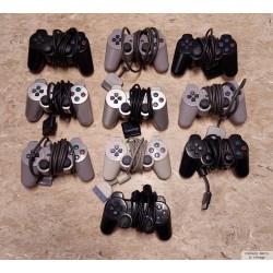 10 x Playstation 1 & 2 håndkontroller - Defekte - Pakke 3