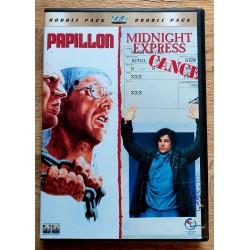 2 x DVD - Papillon og Midnight Express