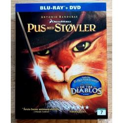 Pus med støvler - Blu-ray + DVD