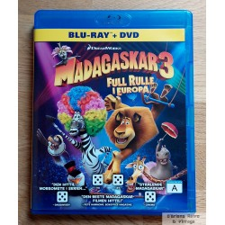 Madagaskar 3 - Full rulle i Europa - Blu-ray + DVD