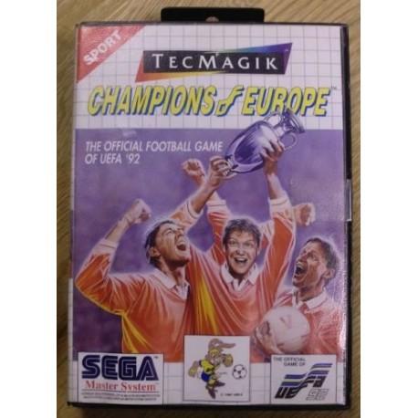 SEGA Master System: Champions of Europe - UEFA `92