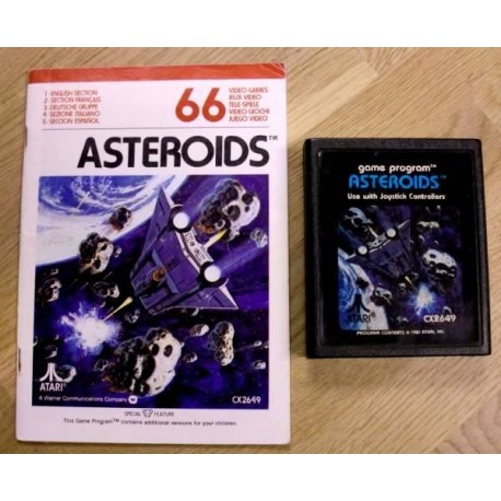 Asteroids med manual