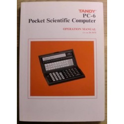 Tandy PC-6: Pocket Scientific Computer Operation Manual