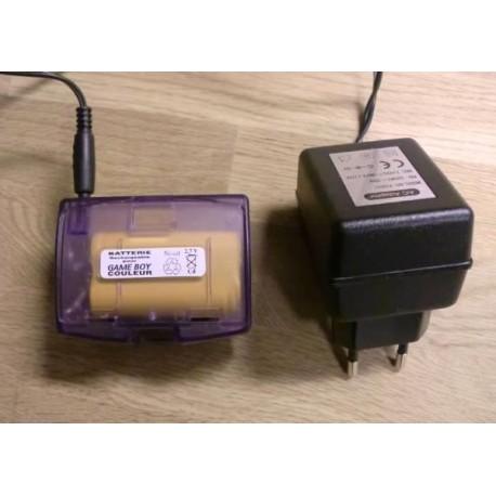 Game Boy Color: Oppladbare batterier med strømforsyning