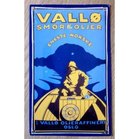 Postkort: Vallø smøreoljer - Vallø Oljeraffineri Oslo (Esso)