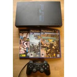Playstation 2: Komplett konsoll med flere spill