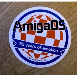 AmigaOS - 30 years of emotion - Klistremerke