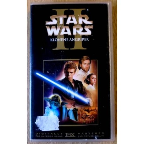 Star Wars II - Klonene angriper (VHS)