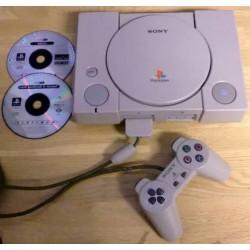 Playstation 1: Komplett konsoll med to spill