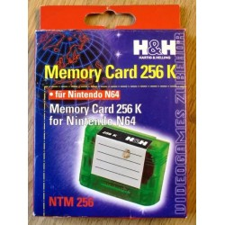 Nintendo 64: Memory Card 256 - Komplett i eske