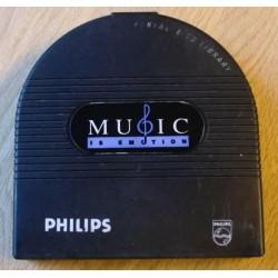 Philips Portable CD Library - Music Is Emotion - Med CD-er!