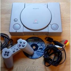 Playstation 1: Komplett konsoll med Theme Park World